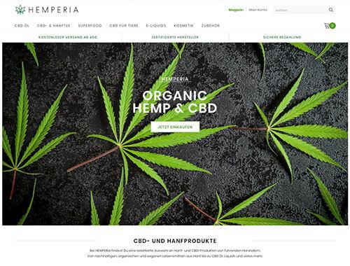 Screenshot des Shops Hemperia