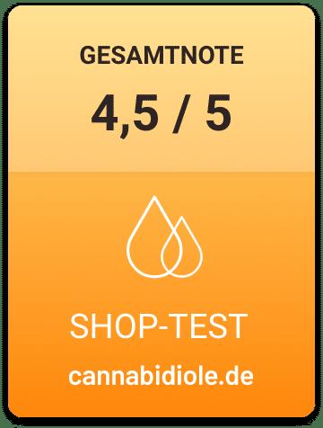 4,5 von 5 Gesamtnote Shoptest