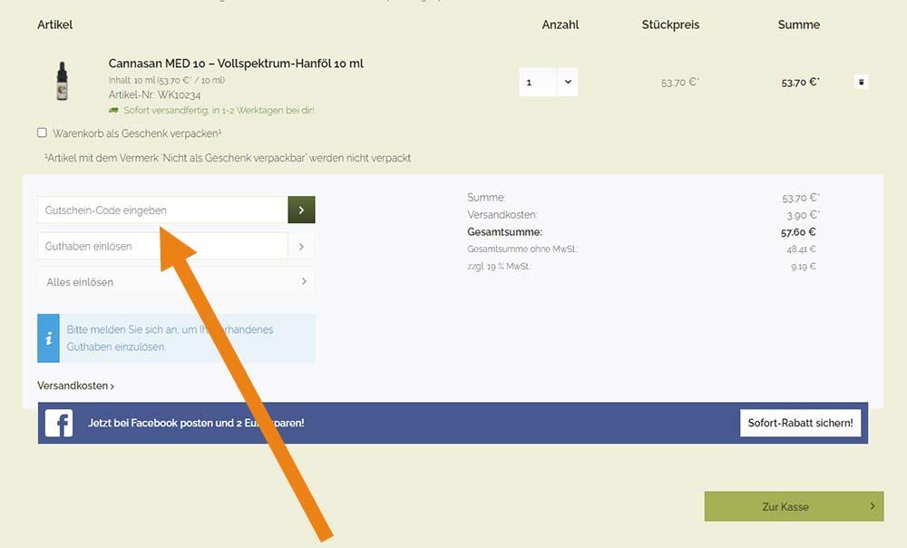 Waldkraft Gutschein Anwendung Screenshot Onlineshop