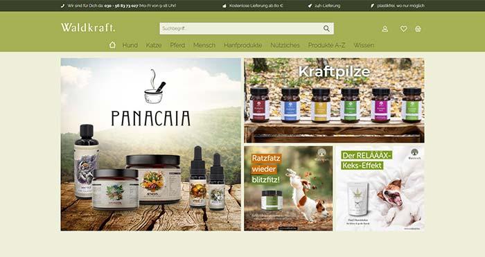 Waldkraft Screenshot Onlineshop
