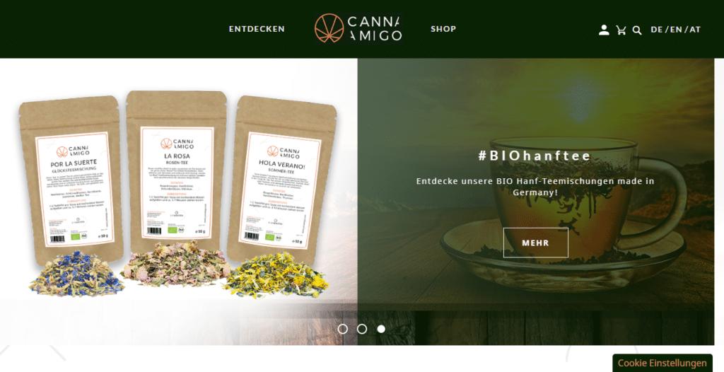 Cannamigo Onlineshop Screenshot
